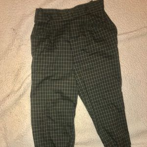 Retro high waisted checkered pants